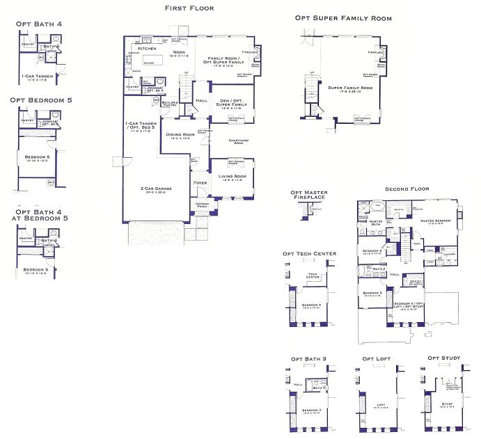 Tandem Garage Plan Over 5000 House Plans